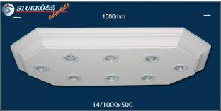 Mennyezeti LED spotlámpa Dombóvár 14/1000x500-2 meleg fehér