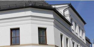 Nyíregyháza 140 kérgesített homlokzati díszléc, polisztirol stukkó