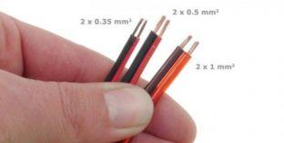 LED szalag vezeték 2x0,0,35 mm2