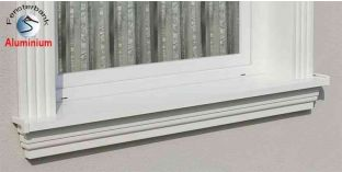 Komplett alumínium ablakpárkány 124 1420-1470-200
