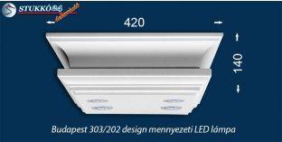Design stukkólámpa Budapest 303/202 LED meleg fehér izzókkal és LED szalaggal
