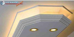 Direkt fény és rejtett világítás stukkó profil Budapest 400+2x202