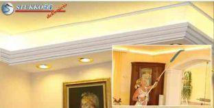Direkt spot és indirekt LED világítás Budapest polisztirol stukkó 190+202 PLEXI PLUS