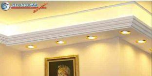 Direkt spot és indirekt LED világítás Budapest polisztirol stukkó profil 190+202