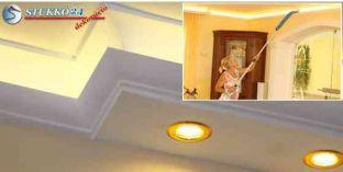 Direkt spot és indirekt LED világítástechnika polisztirol profil Debrecen 190+205 PLEXI PLUS