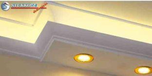 Direkt spot és indirekt LED világítástechnika polisztirol profil Debrecen 190+205