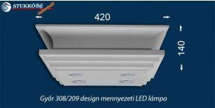 Mennyezeti Led lámpa Győr 308/209 meleg fehér