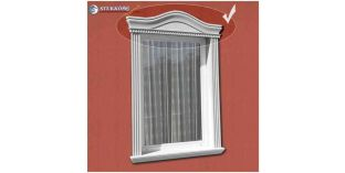 Kérgesített timpanon, ablak stukkó 150/104 F 620-670