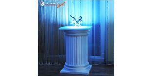 Polisztirol oszlop, oszlop dekoráció, beépített LED rejtett világítás ODK-2-480-768
