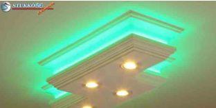 Billentehtő Arany LED spot lámpa keret