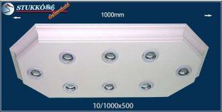 LED spotlámpa Érd 10/1000x500 meleg fehér