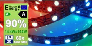 LED szalag 5050 60 RGB + WW