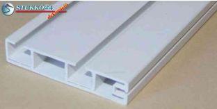 Mennyezeti függönysín, műanyag karnis, kétsoros 180 cm