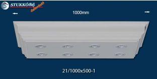 Polisztirol mennyezeti lámpa Abony 21/1000x500-1 LED világítással