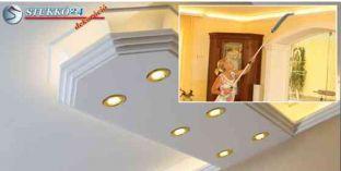 Mennyezetvilágítás spot lámpa, LED szalag polisztirol stukkó használatával Győr 400+2x209 PLEXI PLUS