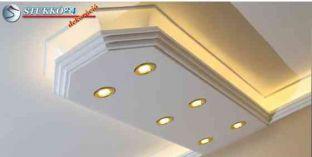 Mennyezetvilágítás spot lámpa, Led szalag polisztirol stukkó használatával Győr 400+2x209