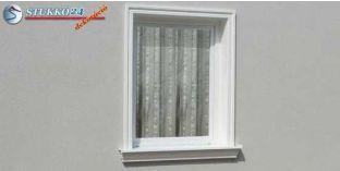 Polisztirol stukkó, ablak stukkó, Miskolc 102-KT-125-135