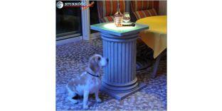 Polisztirol oszlop, oszlop dekoráció, beépített LED rejtett világítás, ODKK-2-480-768