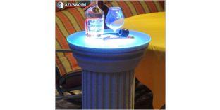 Kültéri polisztirol oszlop, oszlop stukkó, LED világítás beépítésével, ODKK-310-660