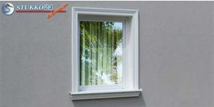 Polisztirol stukkó, ablak stukkó, Pécs 103-KT-145-155