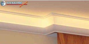 Polisztirol díszléc rejtett világításhoz karnistámasz Eger 206