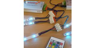 RGB LED szalag vezeték, 4 eres