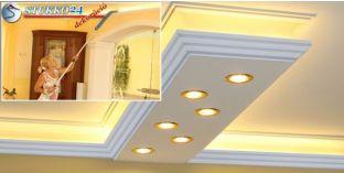 Spot lámpa, LED szalag világítástechnika polisztirol stukkó Győr 270+2x209 PLEXI PLUS
