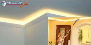 Stukkó díszléc indirekt világítással Harkány 212 Plexi Plus