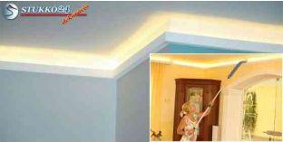 Stukkó díszléc indirekt világítással Kőbánya 214 Plexi Plus