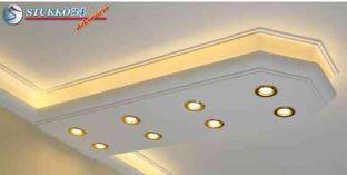 Debrecen stukkó spot lámpa direkt világítás és Led szalag indirekt világítás kiépítéséhez 400+2x205