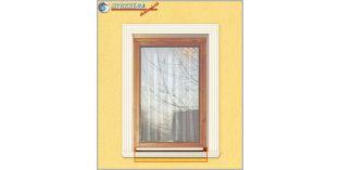 Zalaegerszeg 116 ablakpárkány, ablak díszléc