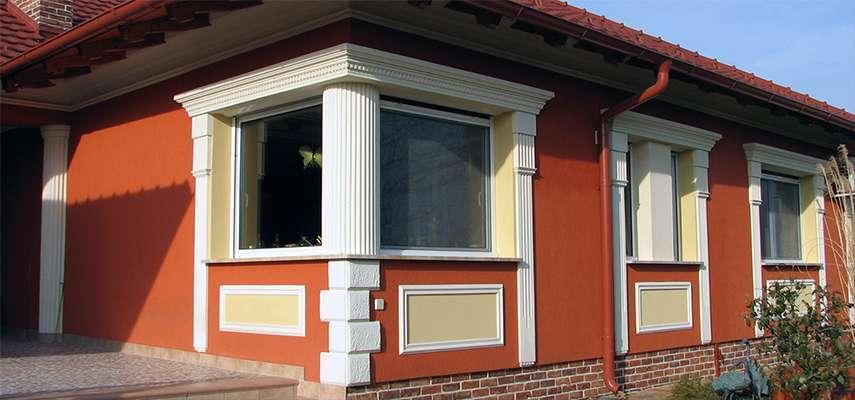 Oszlop ablak díszítéséhez